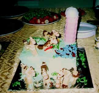 Farm Scene Birthday Cake