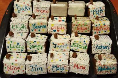 Gingerbread House Name Place Cards