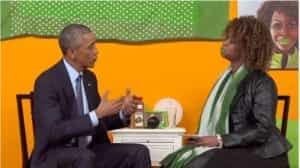 Glo Zell Green with President Obama