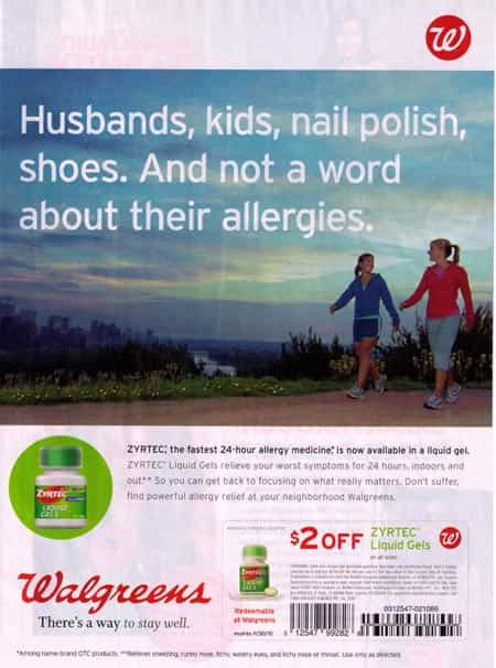 walgreens allergy ad